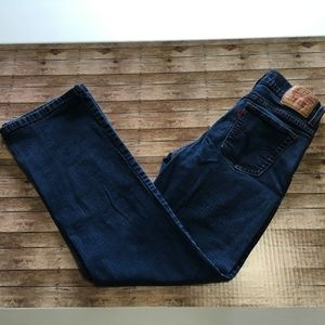 Levi 512 Perfectly Slimming Bootcut dark blue sz 6